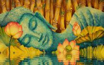 Hoa sen, biểu trưng cho một vị Bồ-tát được minh họa trong kinh Duy Ma Cật